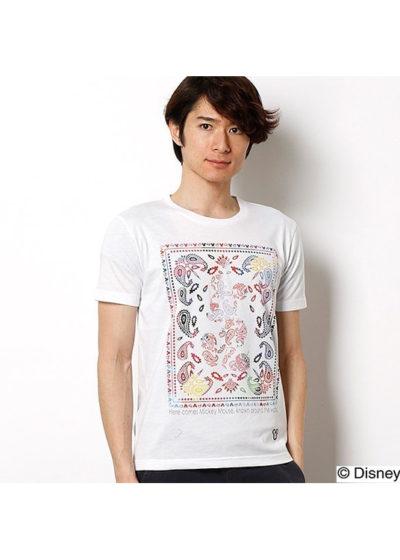 バンダナ柄Tシャツ