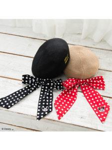 ミッキー&ミニー ベレー帽